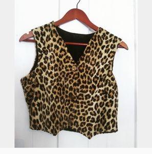 Vintage | Cheetah print vest